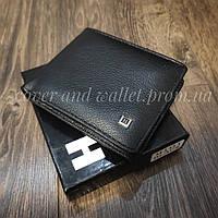 Компактный кожаный мужской кошелек с зажимом на магнитах