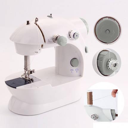 Мини швейная машинка 4в1 FHSM 201 с адаптером. Mini sewing machine K12-17, фото 2