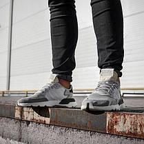 Мужские кроссовки Adidas Nite Jogger White Grey CG5950, Адидас Найт Джогер, фото 3