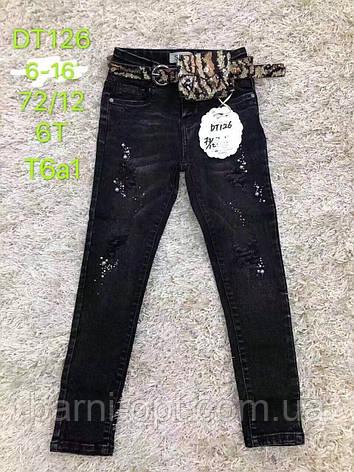 Джинсовые брюки на девочку оптом, S&D, 6-16 рр., фото 2