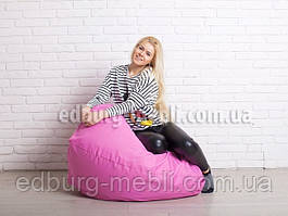 Кресло мешок груша средний  розовый Oxford