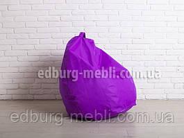 Кресло мешок груша средний  фиолетовый Oxford