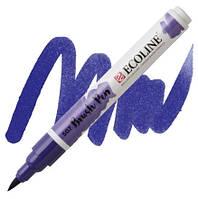 Маркер-кисть акварельный ультрамарин фиолетовый Brush Pen Ecoline Royal Talens, 11505070