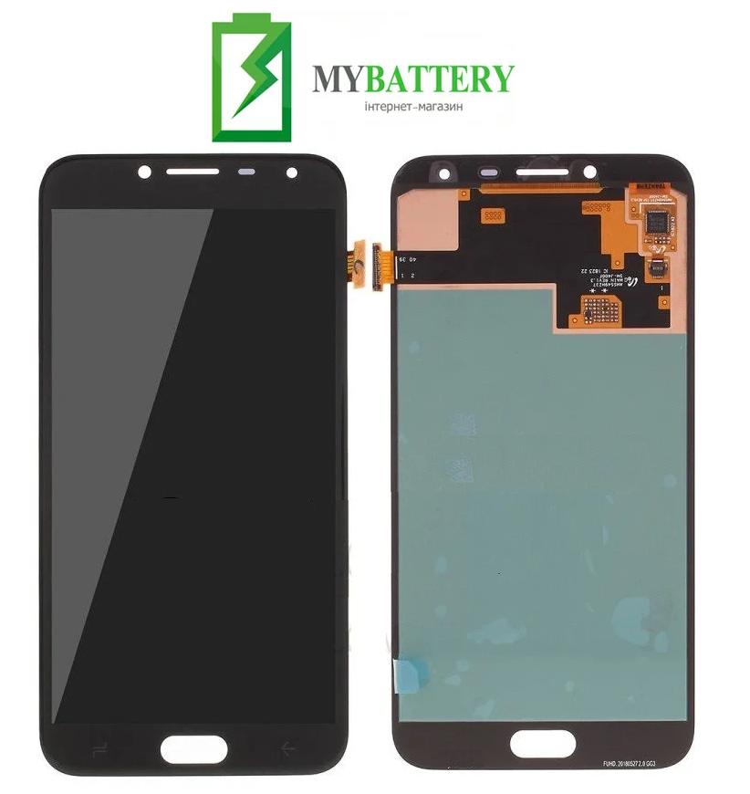 Дисплей (LCD) Samsung GH97-21915A J400 Galaxy J4 (2018) с сенсором черный сервисный