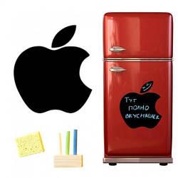 Магнитная доска для мела  Яблоко на холодильник 40*43 см., черная