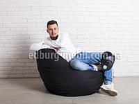 Крісло мішок груша   Великий чорний Oxford, фото 1