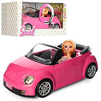 Машина кабриолет для куклы барби, звук, свет (Кукла в машине) 6633