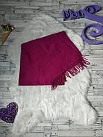 Теплый шерстяной шарф малиновый женский