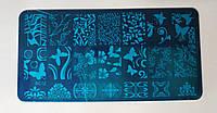 Металическая Пластина для стемпинга Бабочка Цветы  Вензеля Узоры арт.BC12