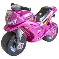 Мотоцикл толокар детский Orion пластиковый, розовый. Байк-беговел -подарок девочке 2-4 лет на день рождения