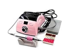 Фрезер ZS-710 на 65 Вт и 35000 об/мин для маникюра и педикюра, Розовый