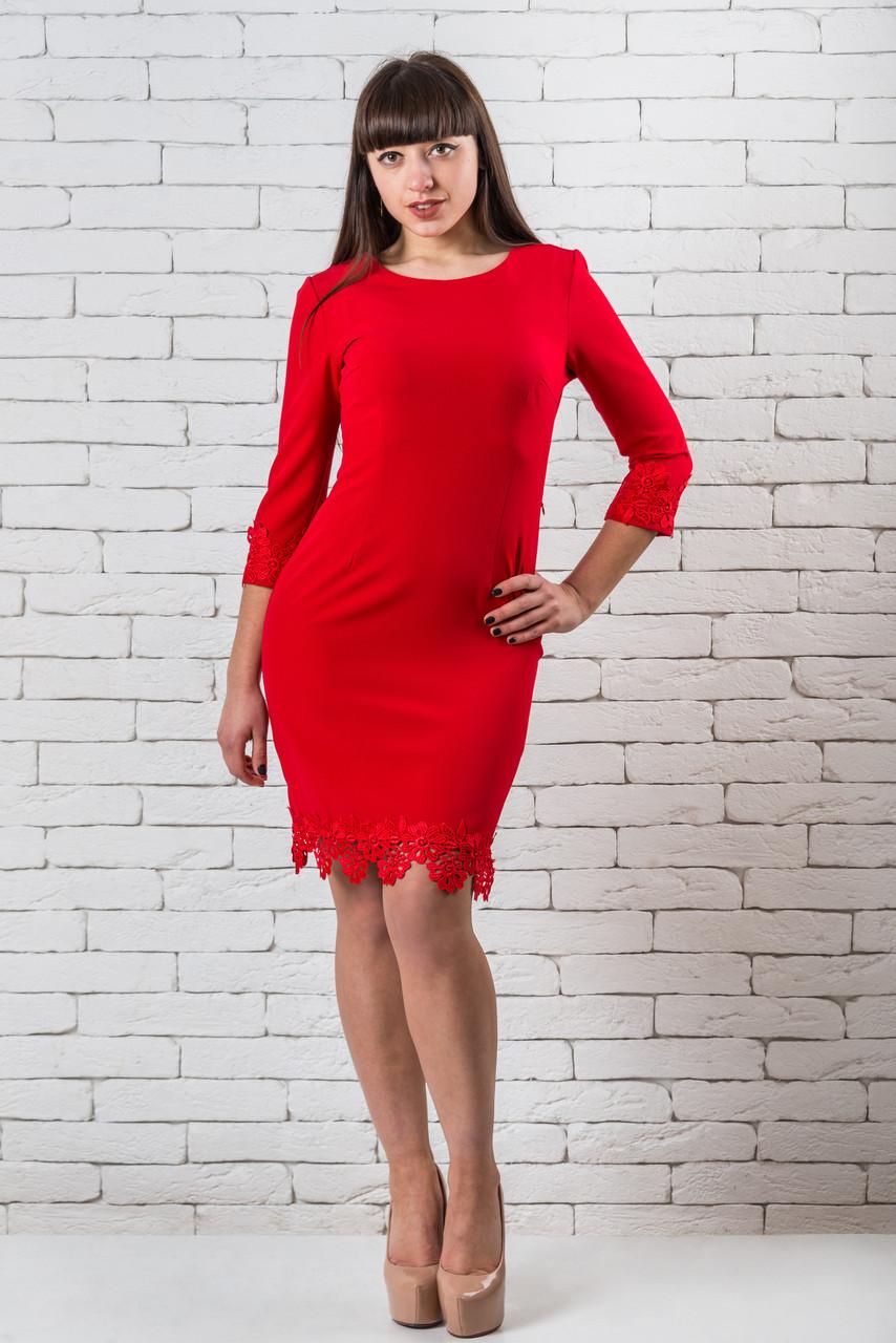 Красное платье женское  модное   42-52 красный