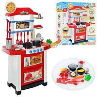 Игровая детская кухня Super Cook 889-3 со звуком и светом. Красная
