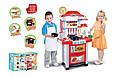 Игровая детская кухня Super Cook 889-3 со звуком и светом. Красная, фото 3