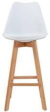 Стул барный Жаклин CX (с мягким сиденьем) (цвет Белый), фото 3