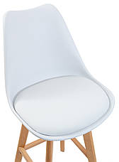 Стул барный Жаклин CX (с мягким сиденьем) (цвет Белый), фото 2