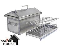 Домашняя коптильня горячего копчения с гидрозатвором (300х250х200), фото 1