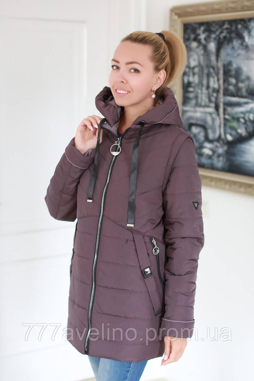 Куртка женская весна осень трансформер в жилет