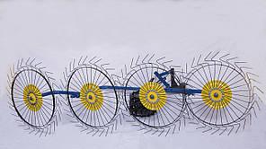 Грабли Солнышко к мотоблоку ТМ Агромоторс - ворошилки  на 4 колеса