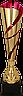 Кубок  3135, золотисто'-красный