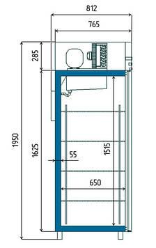 Холодильный шкаф Golfstream Sv107-S (0...+7С), фото 2