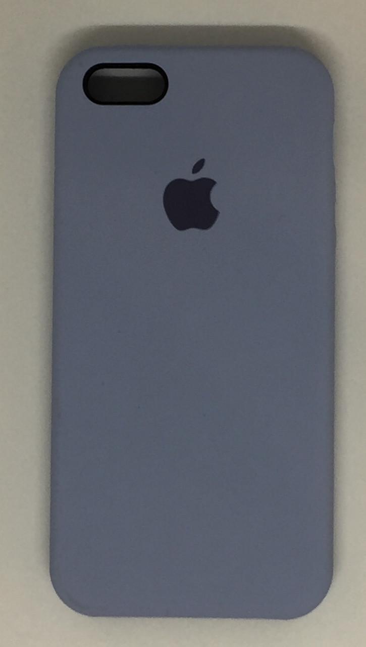 """Чохол Silicon iPhone SE/5s/5 - """"Кремово-ліловий №5"""""""