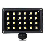 Viltrox RB08 двухцветный 2500 K-8500 K видео светодиодный свет портативный встроенный аккумулятор ультратонкий, фото 3