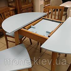 Круглый стол и 4 стула Сицилия диаметр 90 см.+30 см. вставка, фото 3
