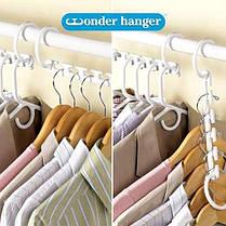 Универсальная Складная чудо вешалка для экономии места Wonder Hanger MAX С Набор из 8 шт., фото 3