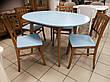 Круглый стол и 4 стула Сицилия диаметр 90 см.+30 см. вставка, фото 6