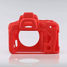 Защитный силиконовый чехол для фотоаппаратов Nikon D750  - красный, фото 3