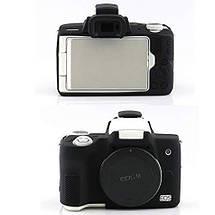 Захисний силіконовий чохол для фотоапаратів CANON EOS M50 - чорний, фото 3