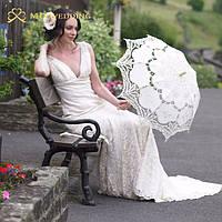 Кружевной небольшой зонтик хлопок вышивка свадебный зонтик для фотосессий