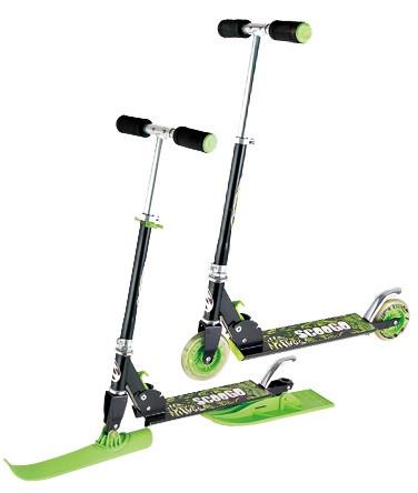 Самокат-скутер 2в1 Kidigo (ScooGo, Snow Scooter)
