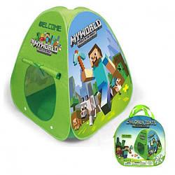 Детская игровая палатка Майнкрафт Bambi, зеленая