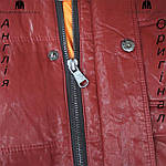 Куртка пуховик из PU кожи мужская Lee Cooper из Англии - демисезонная, фото 5