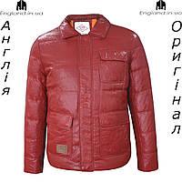 Куртка пуховик из PU кожи мужская Lee Cooper из Англии - демисезонная