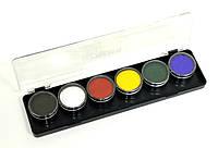 Палитра аквагрим ГримМастер 6 основных цветов по 4 g.