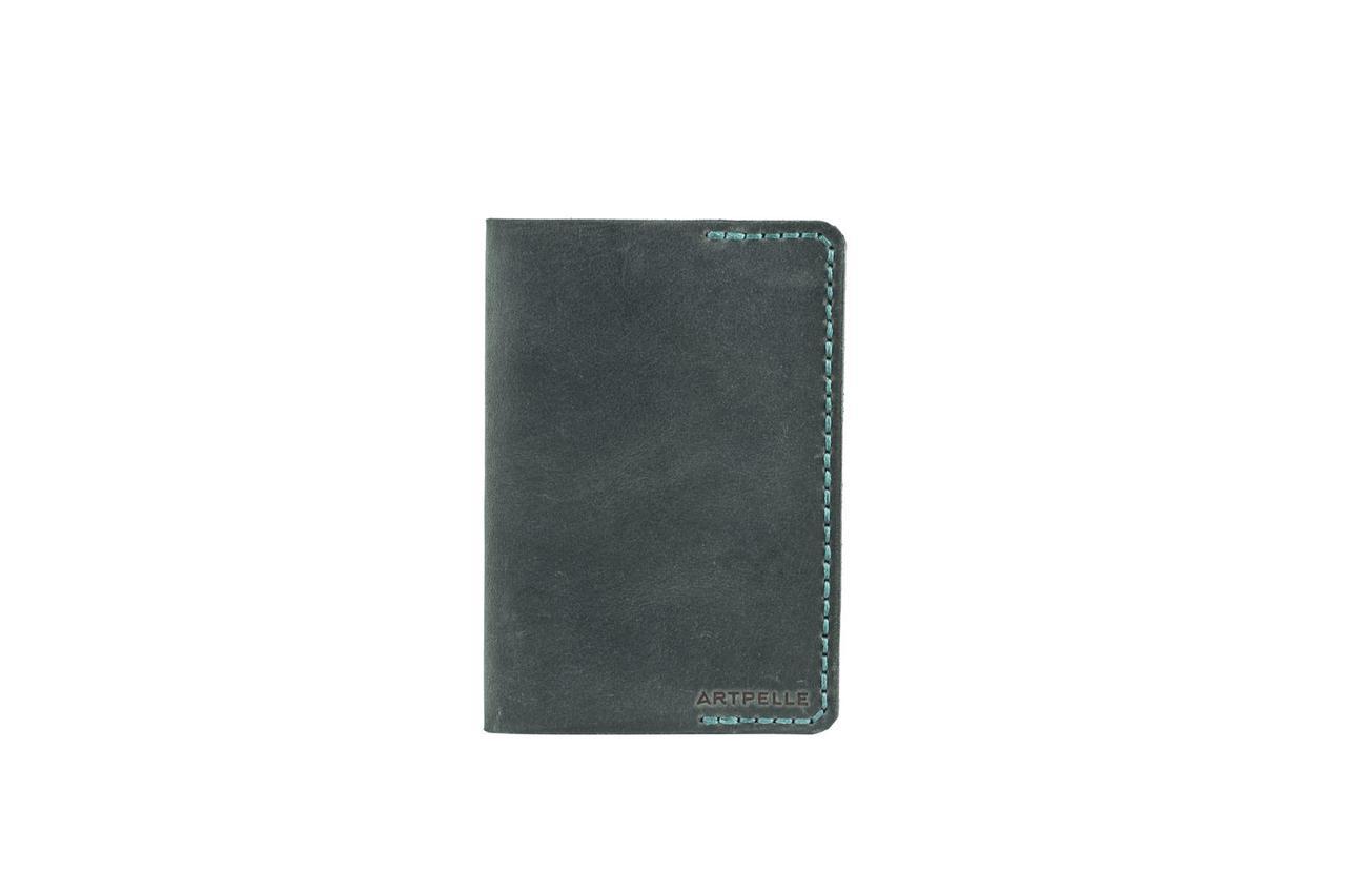 Обложка для паспорта зеленая