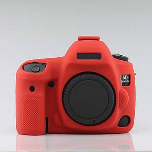 Захисний силіконовий чохол для фотоапаратів Canon EOS 5D Mark IV - червоний