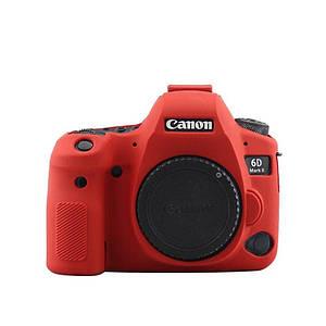 Захисний силіконовий чохол для фотоапаратів Canon EOS 6D Mark II - червоний