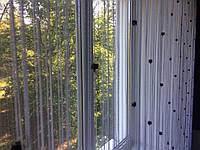 Шторы нити  Белые с черными гранированными  бусинами-куб, фото 1