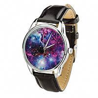 Часы Ziz Галактика с дополнительным ремешком, ремешок насыщенно-черный, серебро SKL22-228864