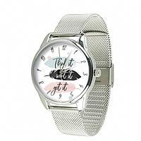 Часы Ziz Думай желай получай с дополнительным ремешком, ремешок из нержавеющей стали серебро SKL22-228865