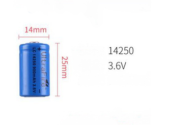 Аккумулятор 14250 - 900mAh 3.6V Ultrafire (цена за 1 штуку)