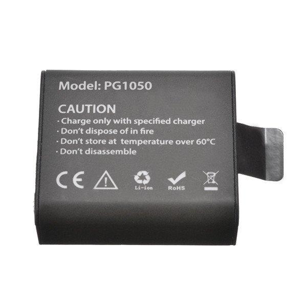Акумулятор PG1050 - аналог (SJCAM SJ4000B) для камер EKEN H8, H8R, H8 Pro, H9, H9R, V8S, SJ6000, SJ7000 і тд