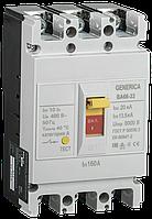 Автоматический выключатель ВА66-33 3Р 160А 20кА GENERICA (SAV10-3-0160-G)