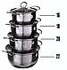 Набор кастрюль из нержавеющей стали посуды с крышками aplus нержавейка, фото 7