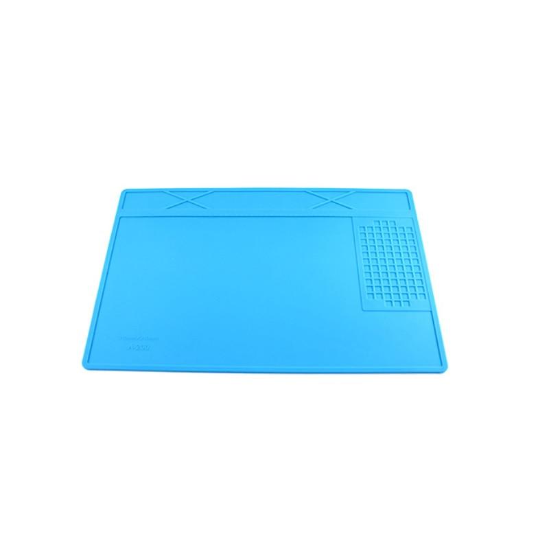 Термостойкий коврик для пайки с магнитными ячейками 31х21см, силикон