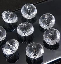 Декоративные кристаллы, бусины- рондели, 12 х 8 мм, 10 шт., для гирлянд, бахромы и др.